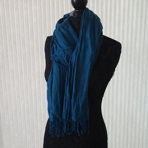 Oversize Blue Scarf/Shawl